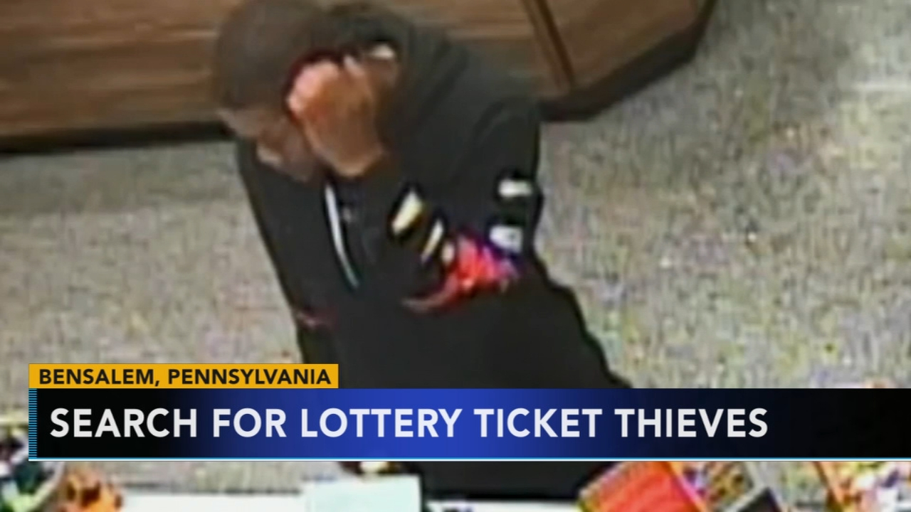 Police search for lottery ticket thieves in Bensalem. Gray Hall reports during Action News at 6 a.m. on November 11, 2018.