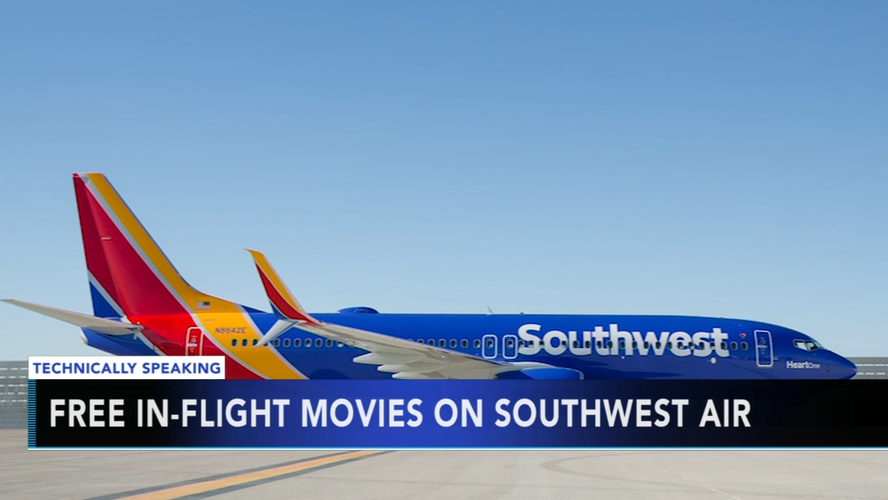 Southwest offers free in-flight entertainment for holiday travel season. Nydia Han reports during Action News at 9 a.m. on November 11, 2018.