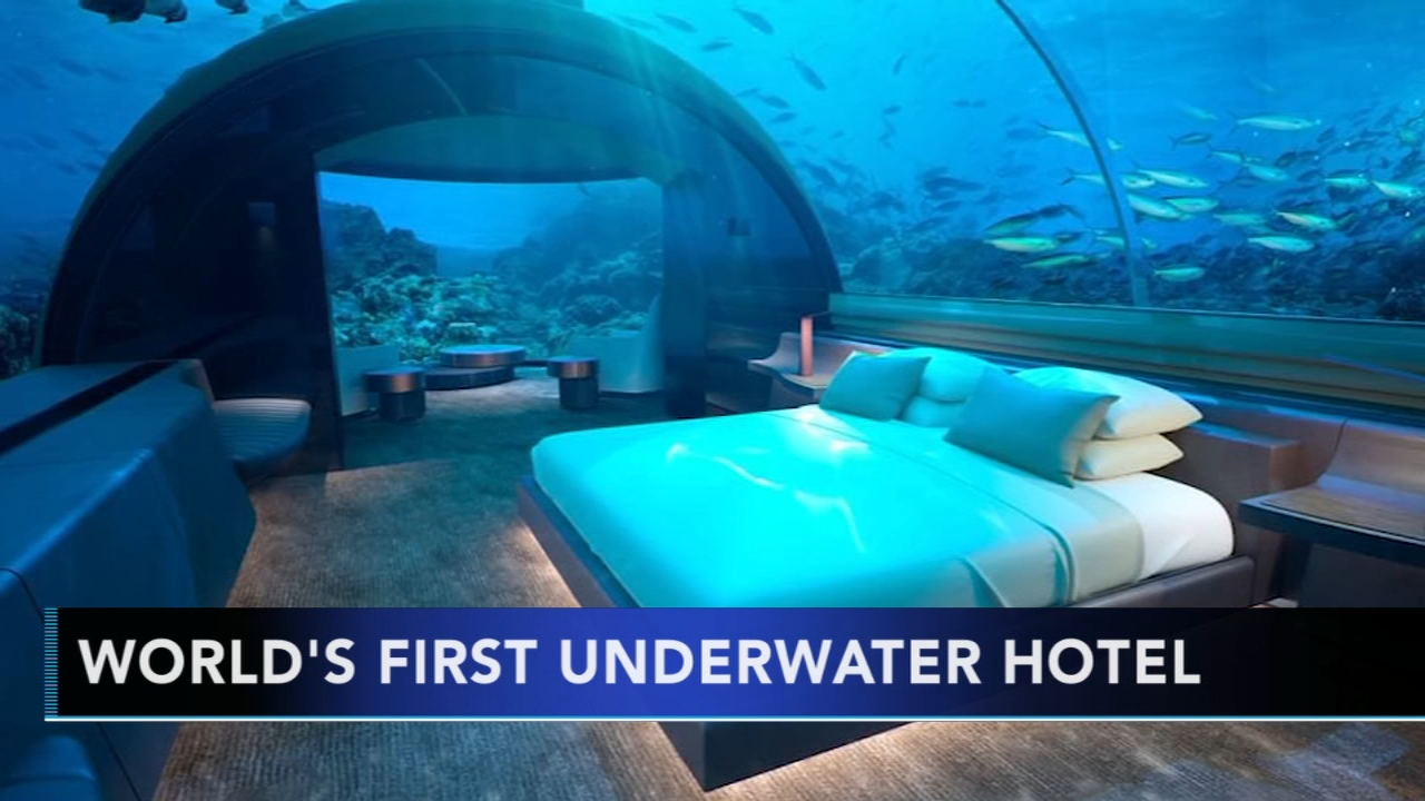 Worlds first underwater hotel sits in the Indian Ocean. Gray Hall reports during Action News at 6 a.m. on November 11, 2018.