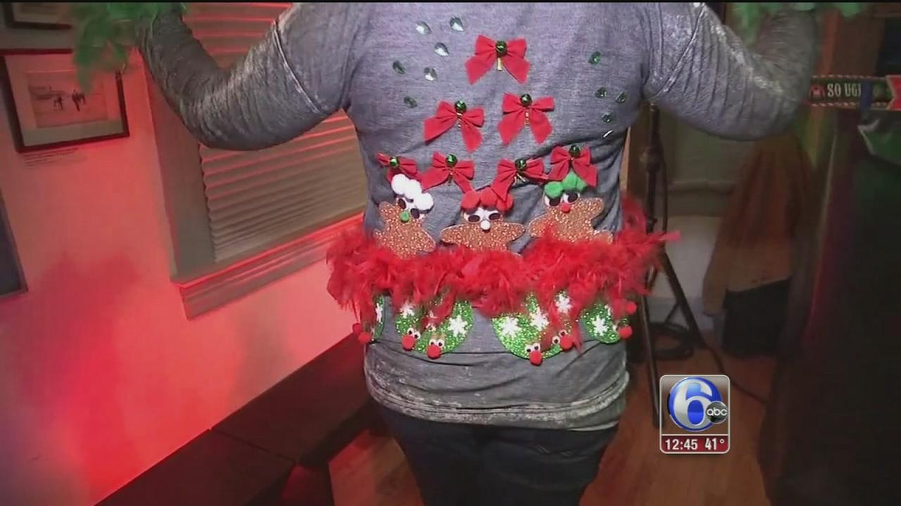 VIDEO: Ugly Christmas sweater party