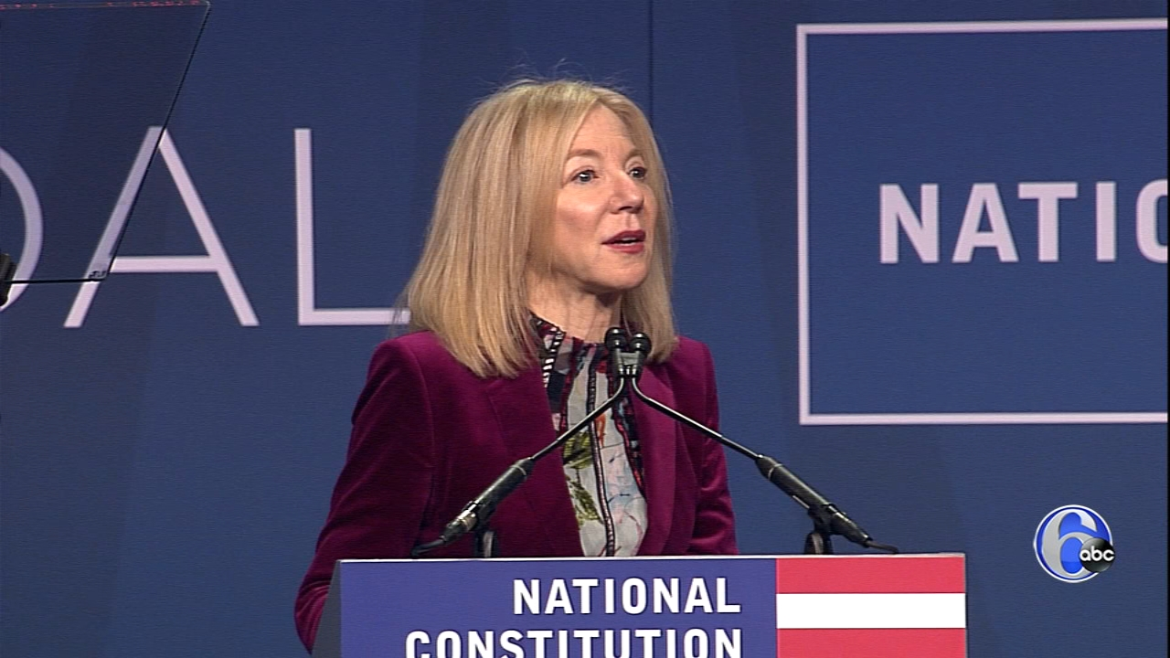 Amy Gutmann honors the Bushes at the 2018 Liberty Medal presentation