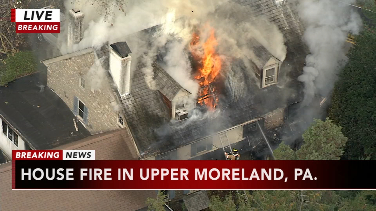 House fire in Upper Moreland, Pa. Rick Williams reports during Action News at Noon on November 12, 2018.