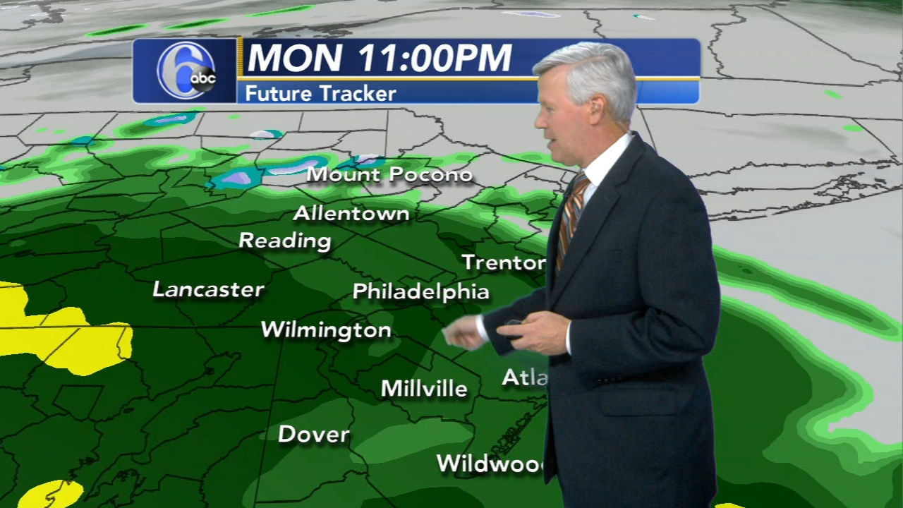 David Murphy with AccuWeather during Action News at Noon on November 12, 2018.