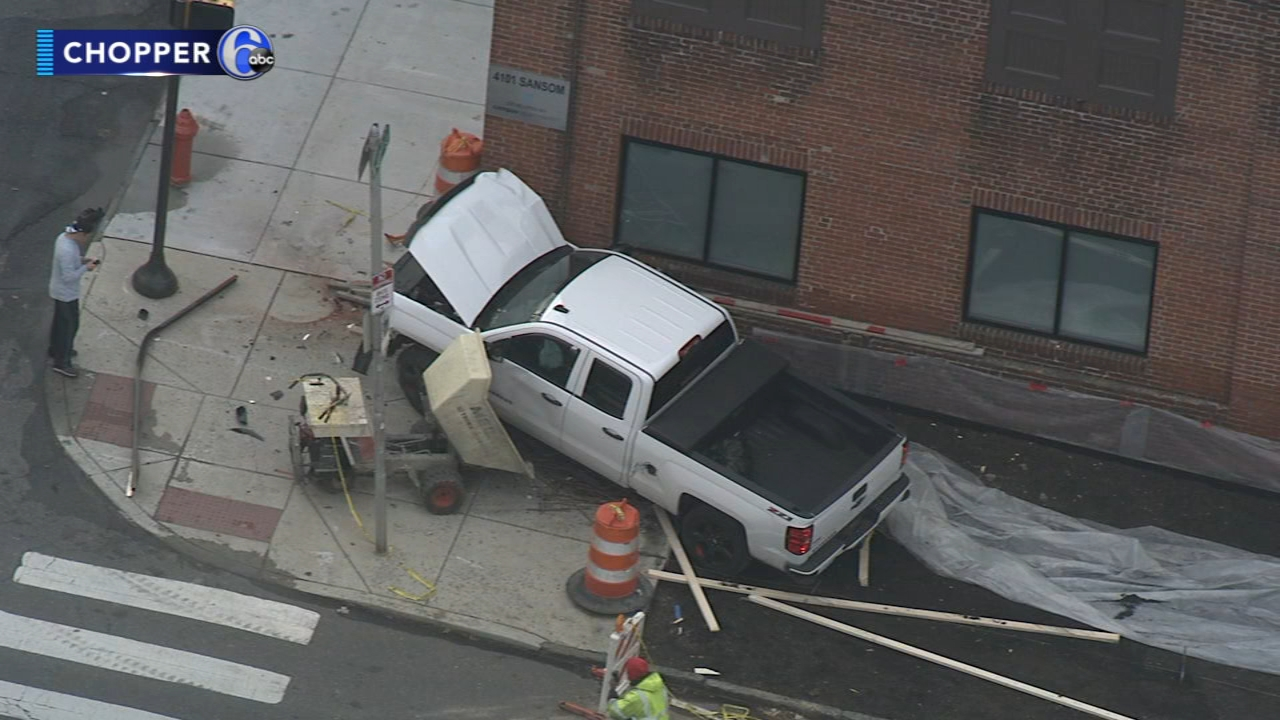 Pickup truck slams into West Philadelphia building. Watch this report from Action News at Noon on November 12, 2018.