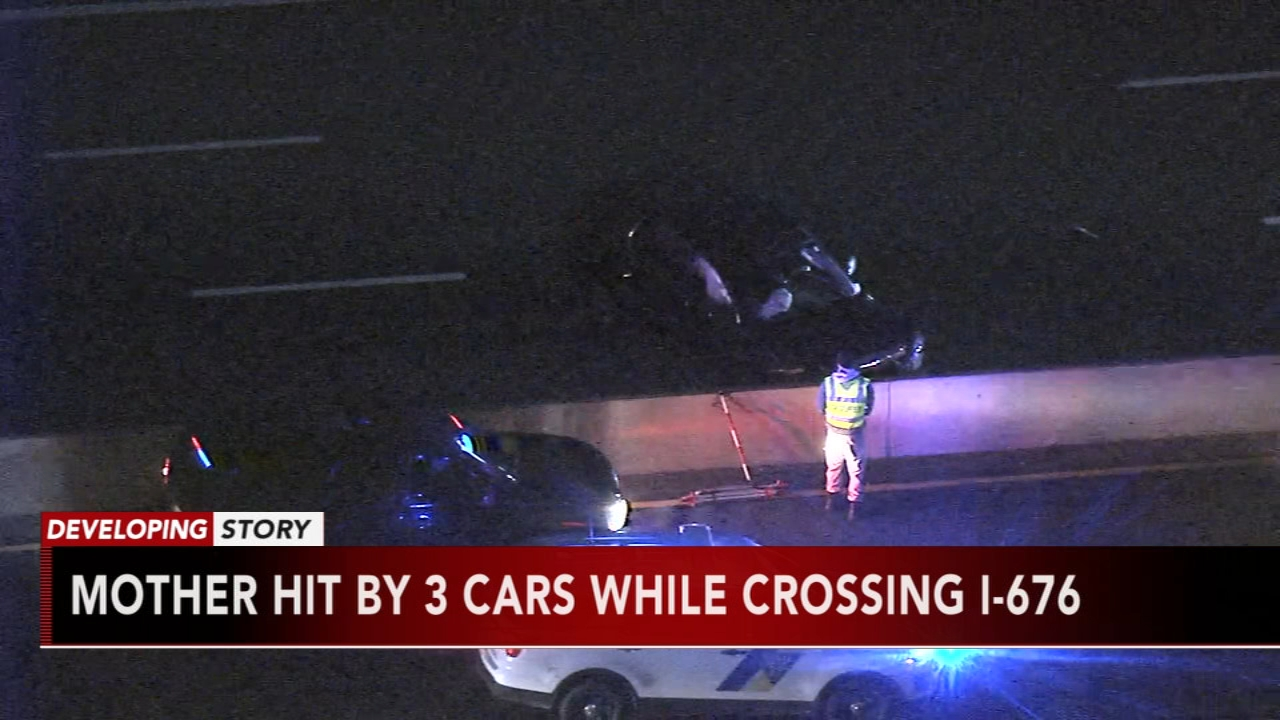 Police: Mom crossing I-676 with son hit and killed; drivers sought. Watch this report from Action News at 4:30pm on November 13, 2018.