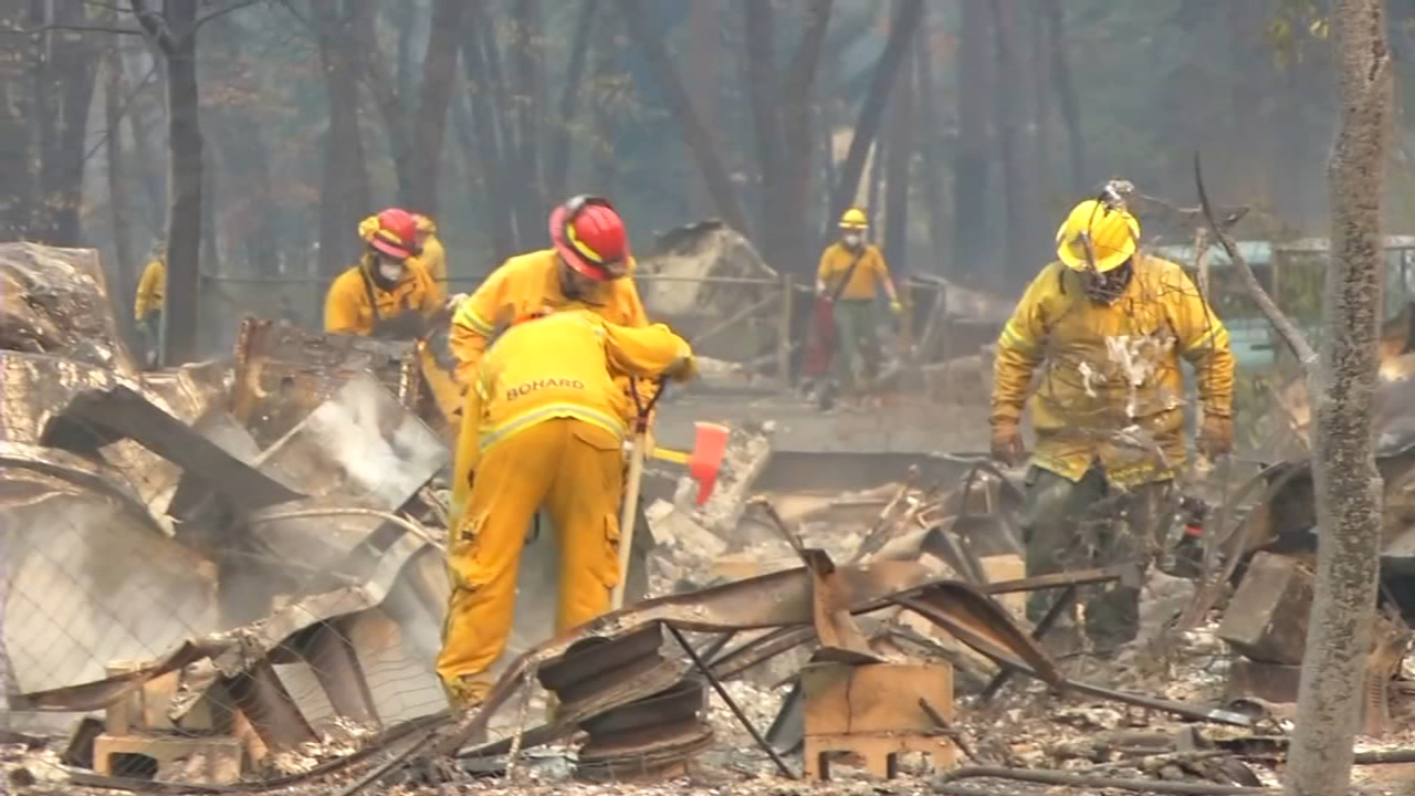 Dogs and portable morgues: Search intensifies in fire zone. Natalie Brunell reports during Action News at 12:30 p.m. on November 13, 2018.