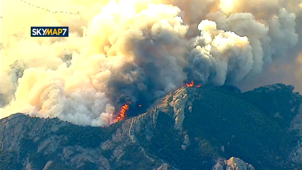 Southern California wildfire roars to life in wilderness. Natalie Brunell reports during Action News at 5:30 p.m. on November 13, 2018.