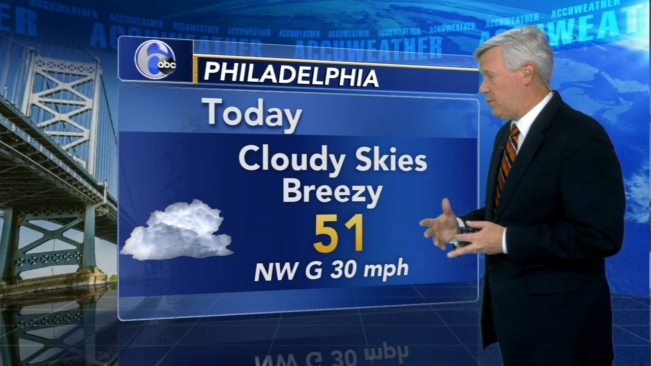 David Murphy reports on AccuWeather during Action News at 12 p.m. on November 13, 2018.