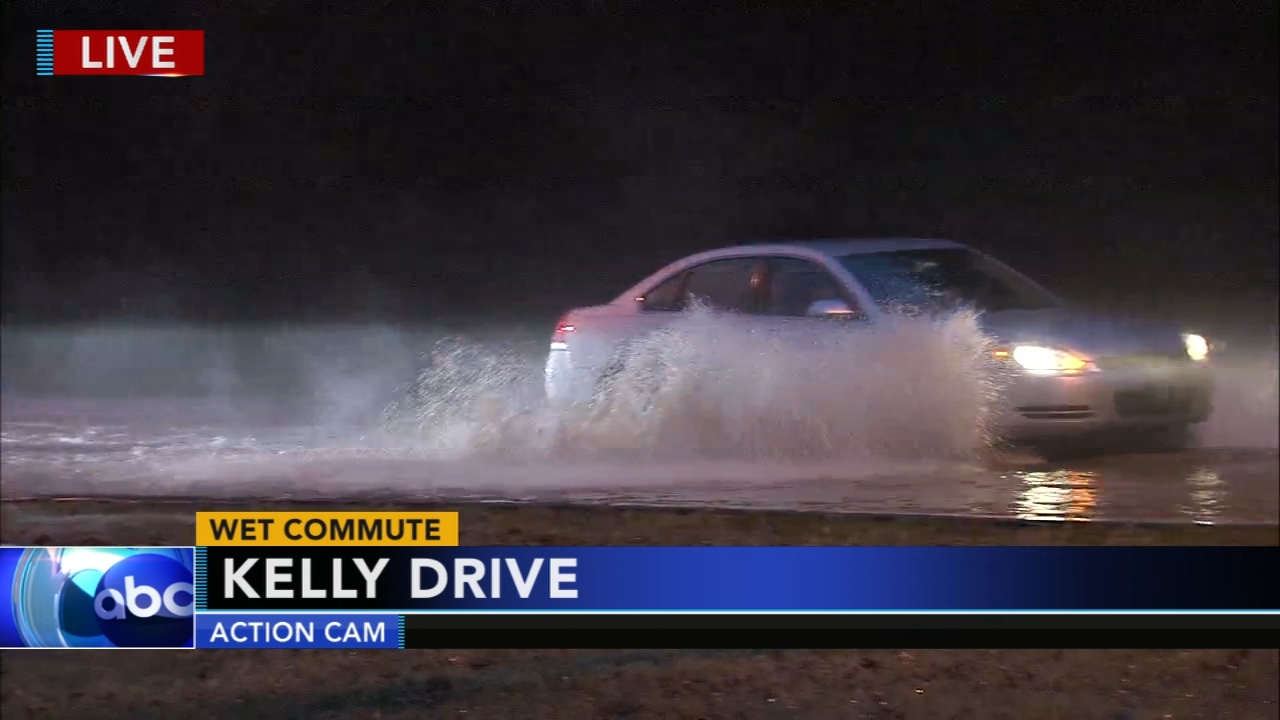 Wet commute: Flooding along Kelly Drive. Jeannette Reyes reports during Action News Mornings on November 13, 2018.
