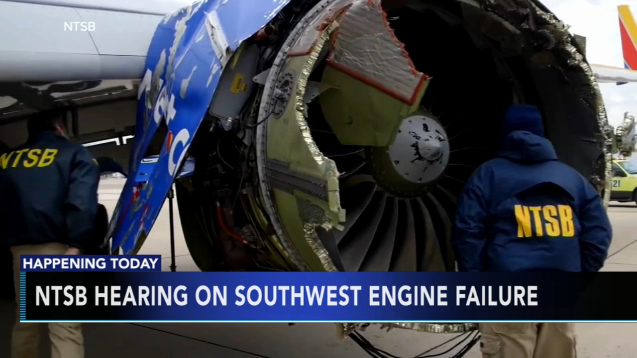 NTSB holds hearing Southwest emergency landing. Rick Williams reports during Action News at Noon on November 14, 2018.