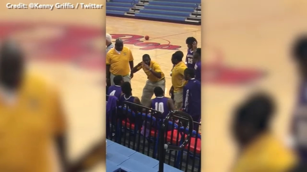 A sideline pep talk captured on video is warming the hearts of thousands of people online.