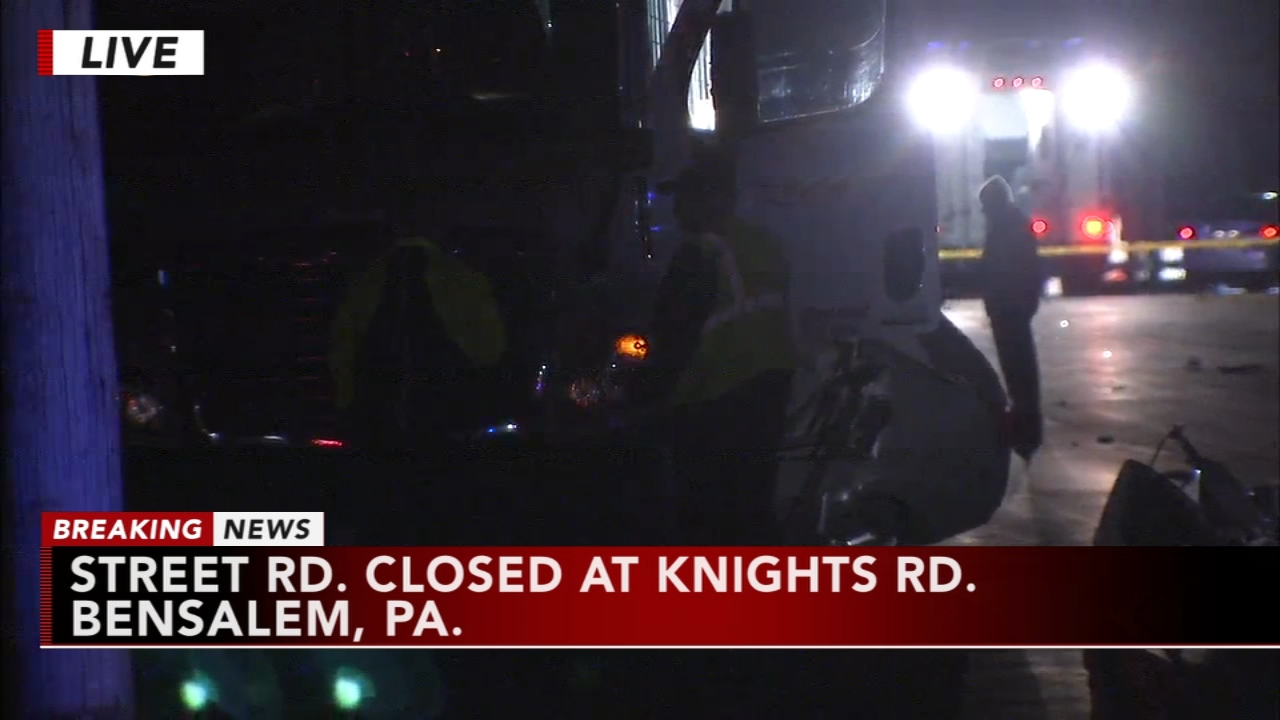 Serious crash in Bensalem, Pa. Karen Rogers reports during Action News Mornings on November 14, 2018.