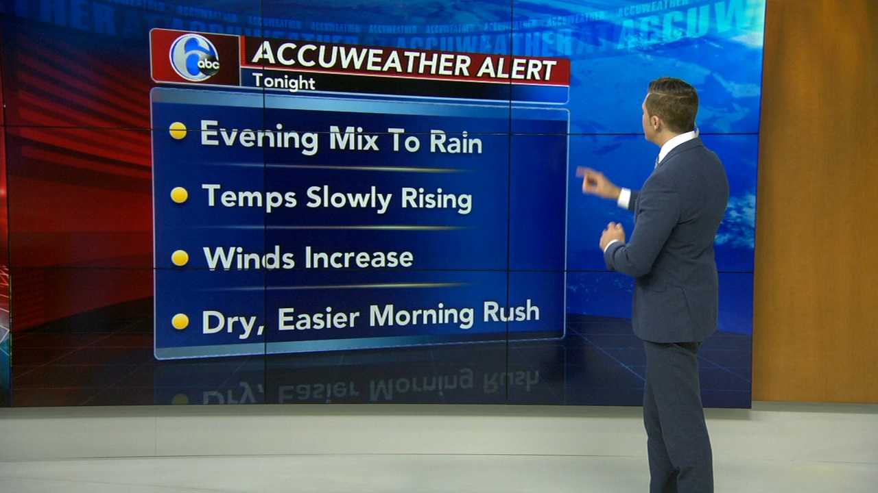 Adam Joseph reports on AccuWeather during Action News at 4 p.m. on November 15, 2018.