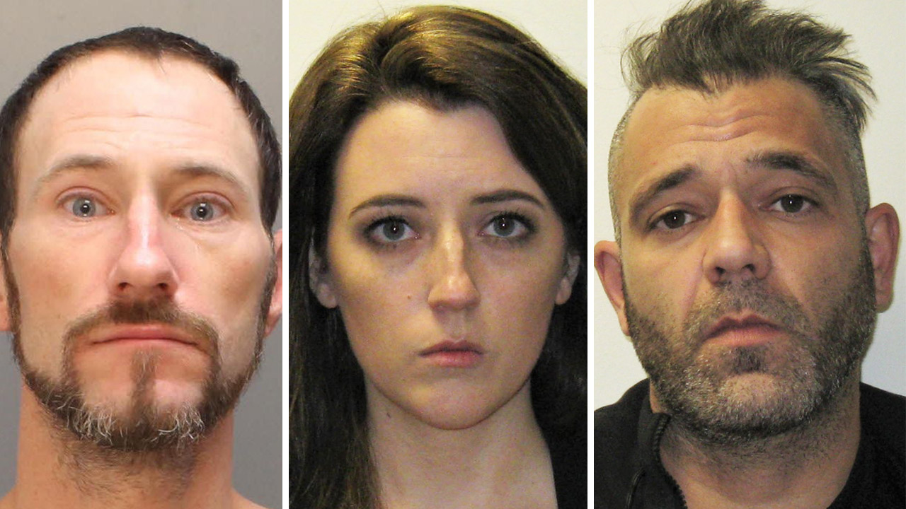 35-year-old Johnny Bobbitt (left), 28-year-old Kate McClure (center), and 39-year-old Mark DAmico (right)