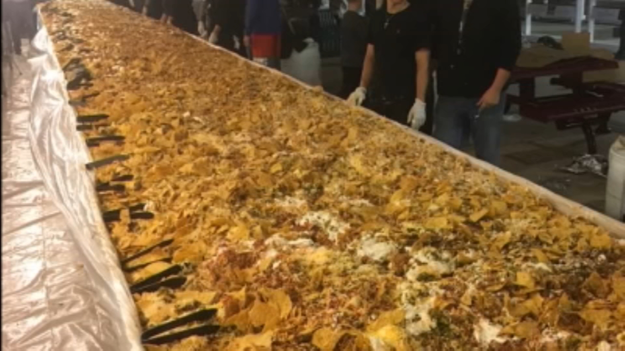 A city in new Mexico spared no ingredient in making this massive nacho dish.