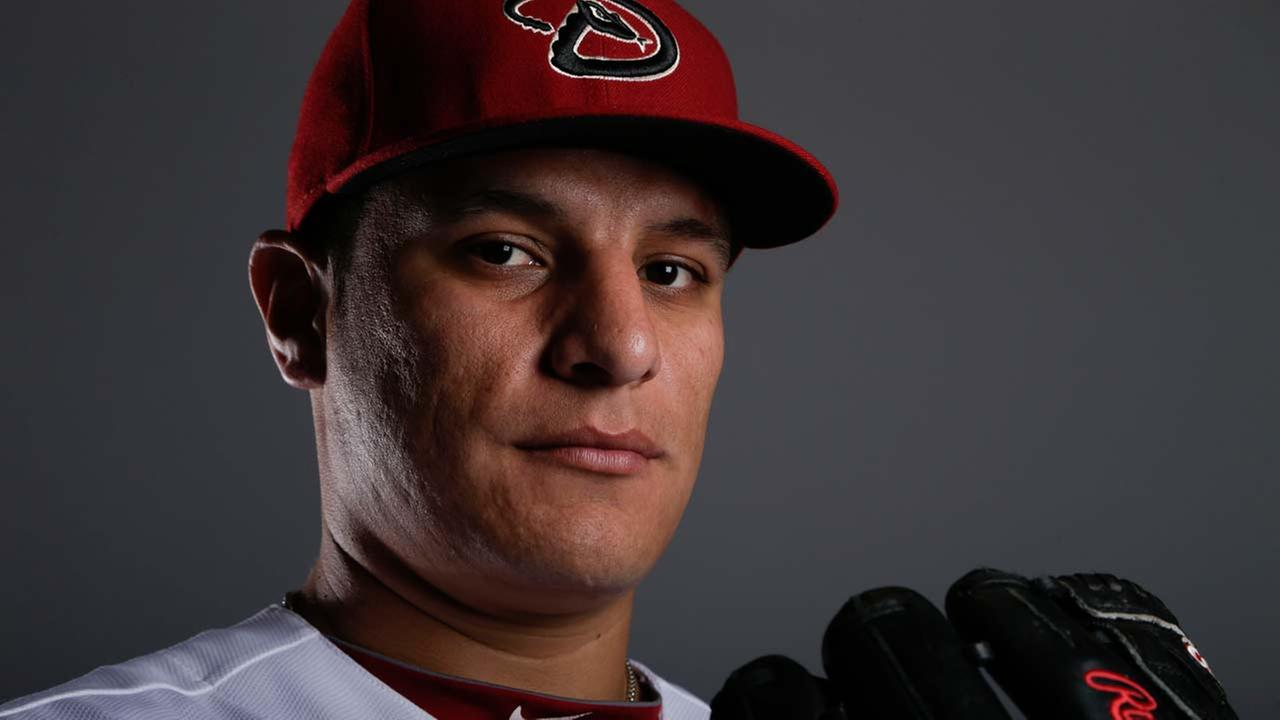 This is a 2014 photo of David Hernandez of the Arizona Diamondbacks baseball team.