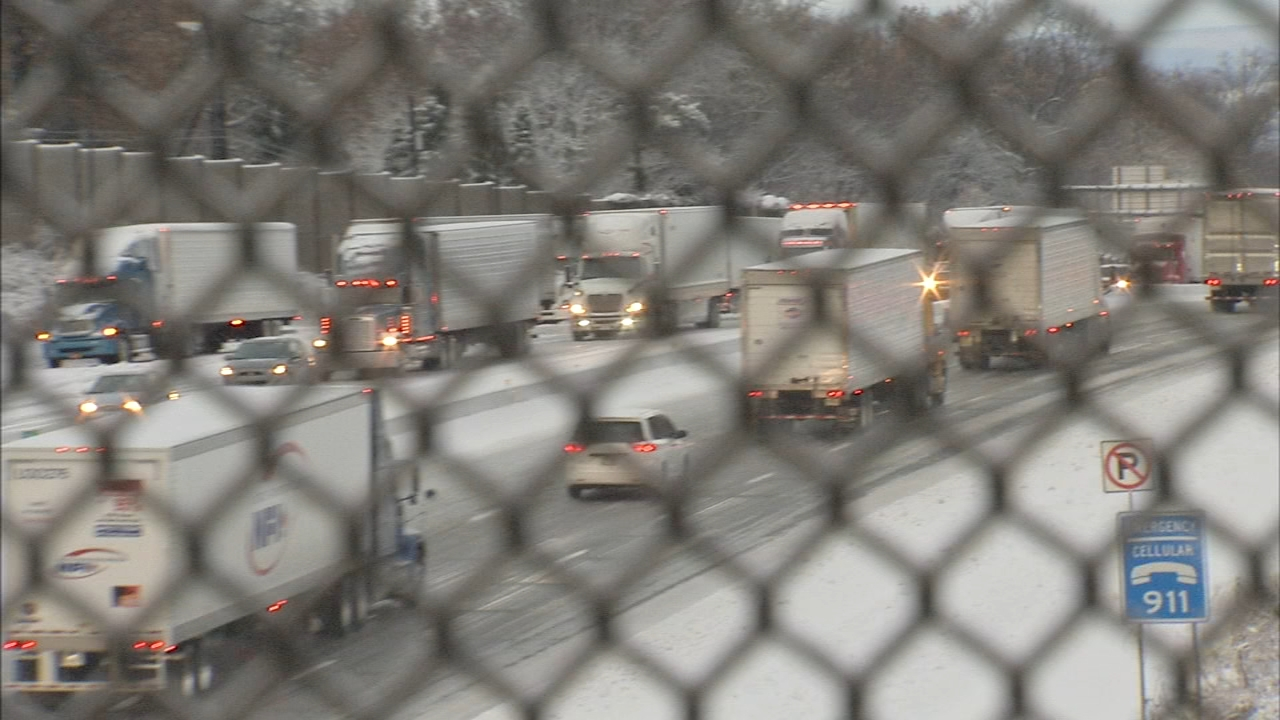 Traffic nightmare on I-78. Jeannette Reyes reports during Action News at Noon on November 16, 2018.