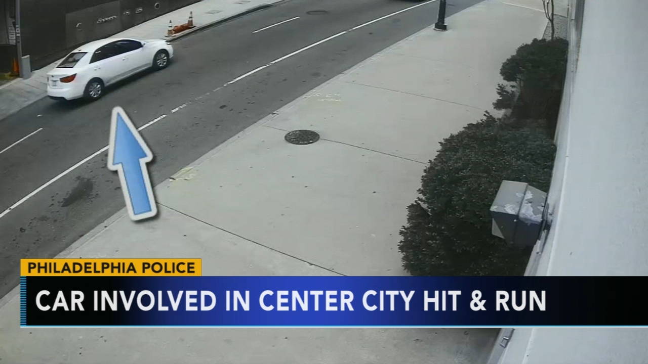 Search for car involved in Center City hit and run. Matt ODonnell reports during Action News Mornings on November 16, 2018.