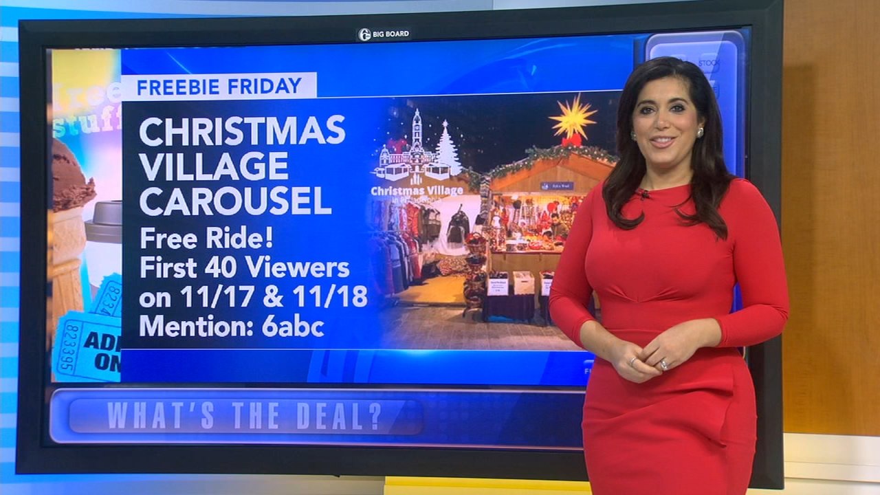 Freebie Friday: Free ride, holiday light show, photo, coffee, latte, comics. Alicia Vitarelli reports during Action News at 4:30 p.m. on November 16, 2018.