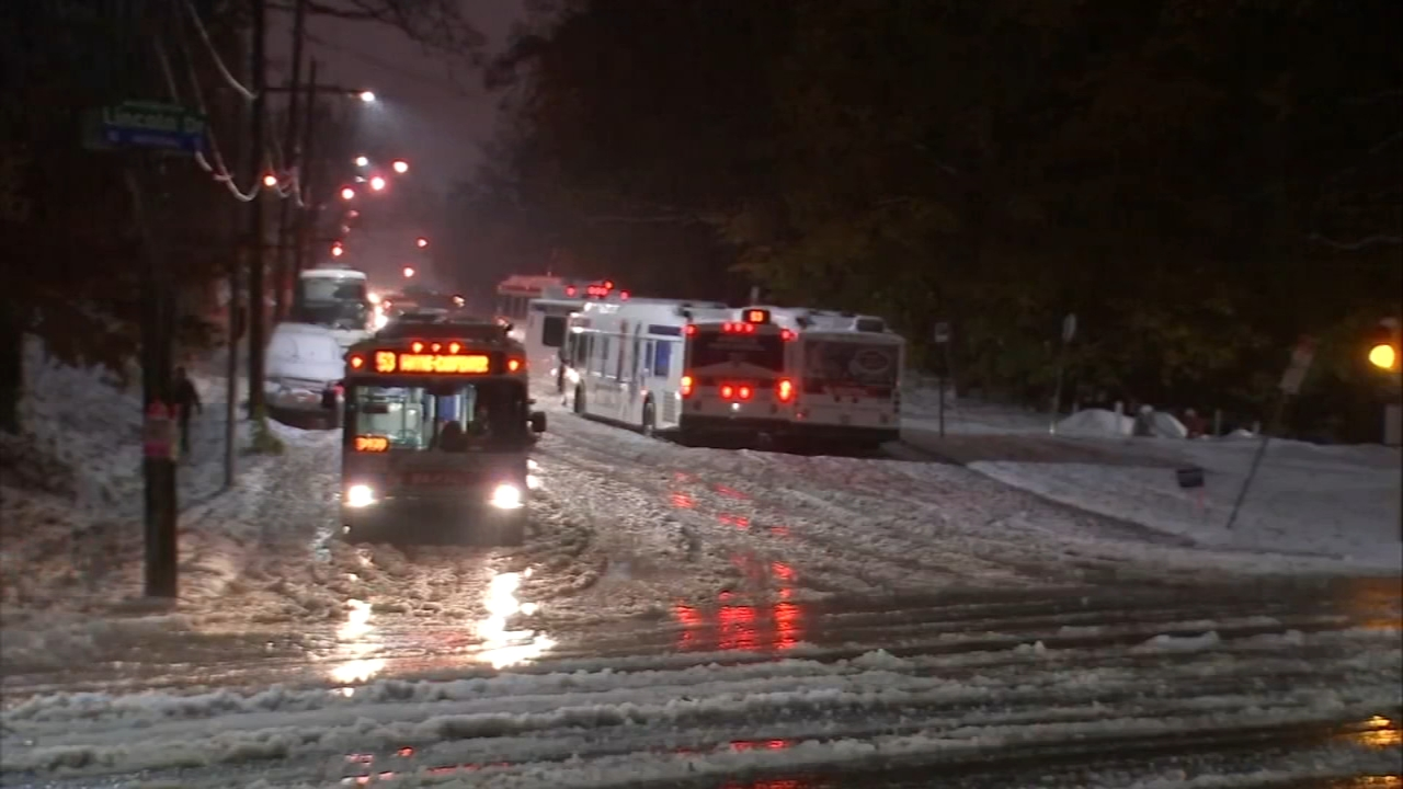 Winter weather impacting morning commute. Katherine Scott reports during Action News Mornings on November 16, 2018.