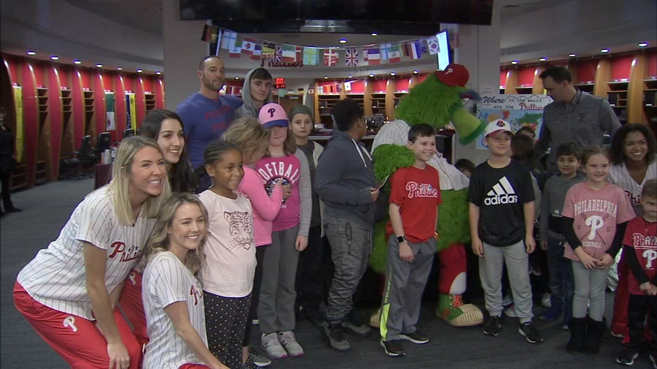 Most kids love to have sleepovers, but what about the idea of having a sleepover in the Phillies clubhouse? as reported by Jeff Chirico during Action News at 11 on November 16, 20