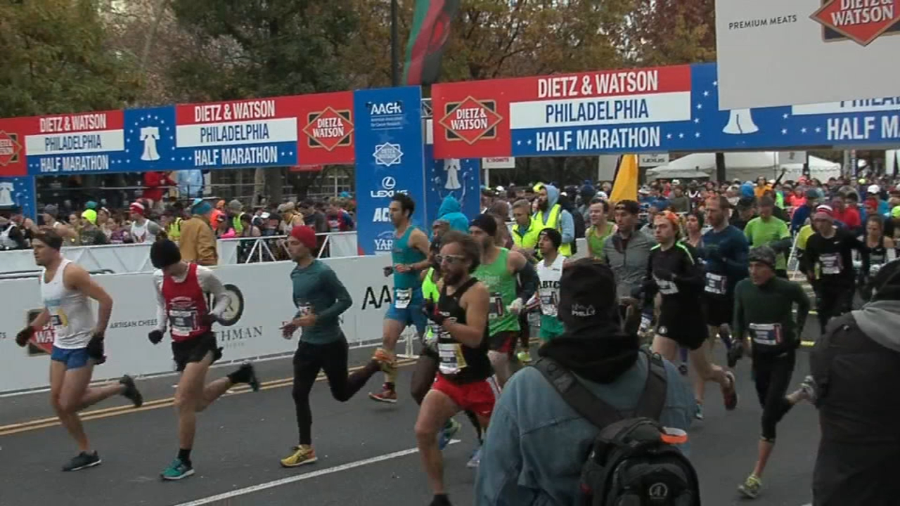 Marathon weekend in Philadelphia begins.  Ali Gorman reports during Action News at 5pm on November 16, 2018.