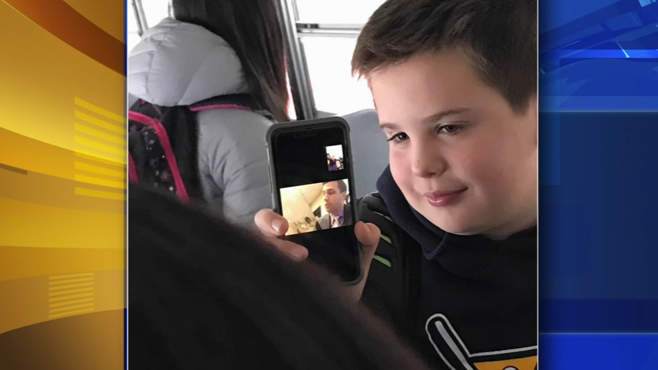Lower Moreland principal reads via FaceTime to kids stuck on bus. Maggie Kent reports during Action News at 4pm on November 16, 2018.