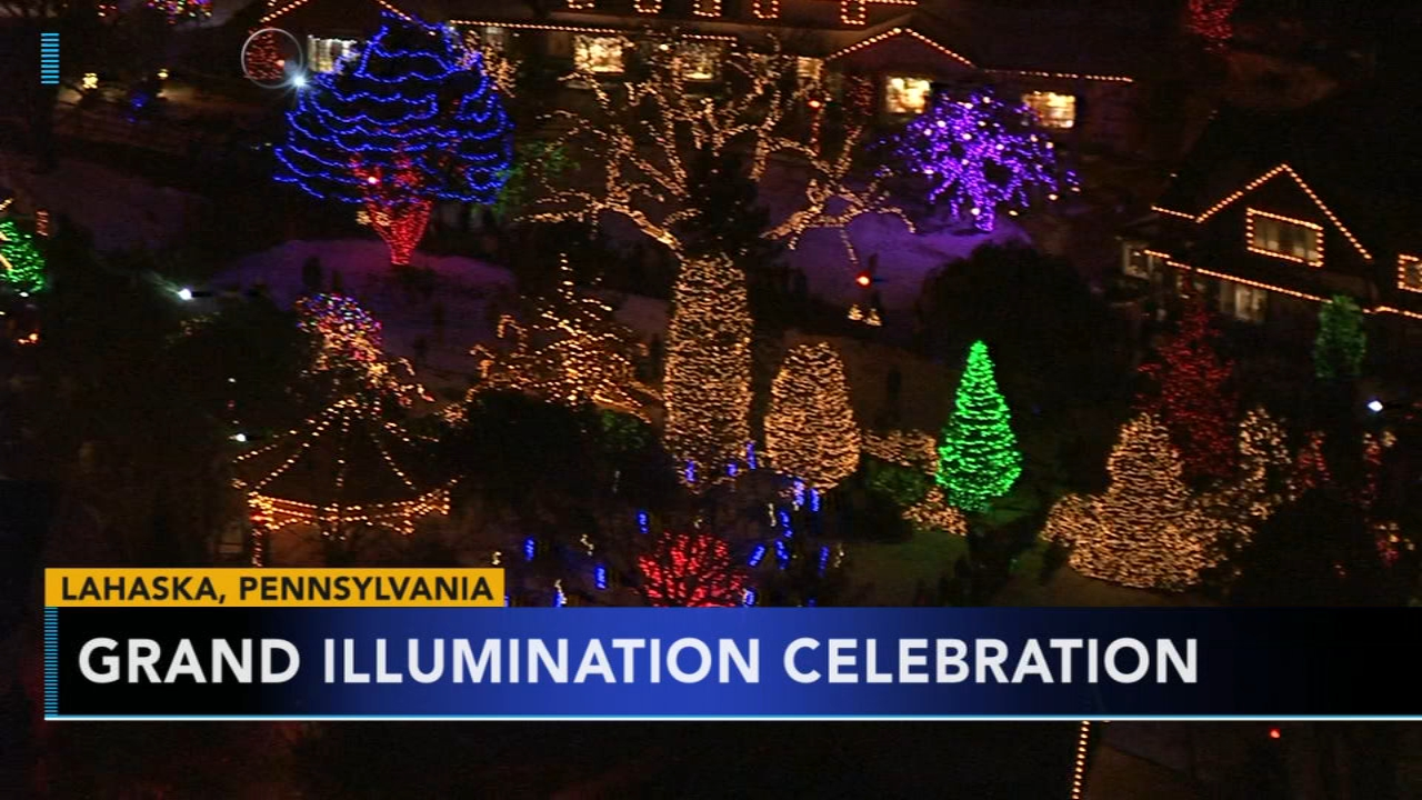 Grand Illumination Celebration held at Peddlers Village. Gray Hall reports during Action News at 6 a.m. on November 17, 2018.