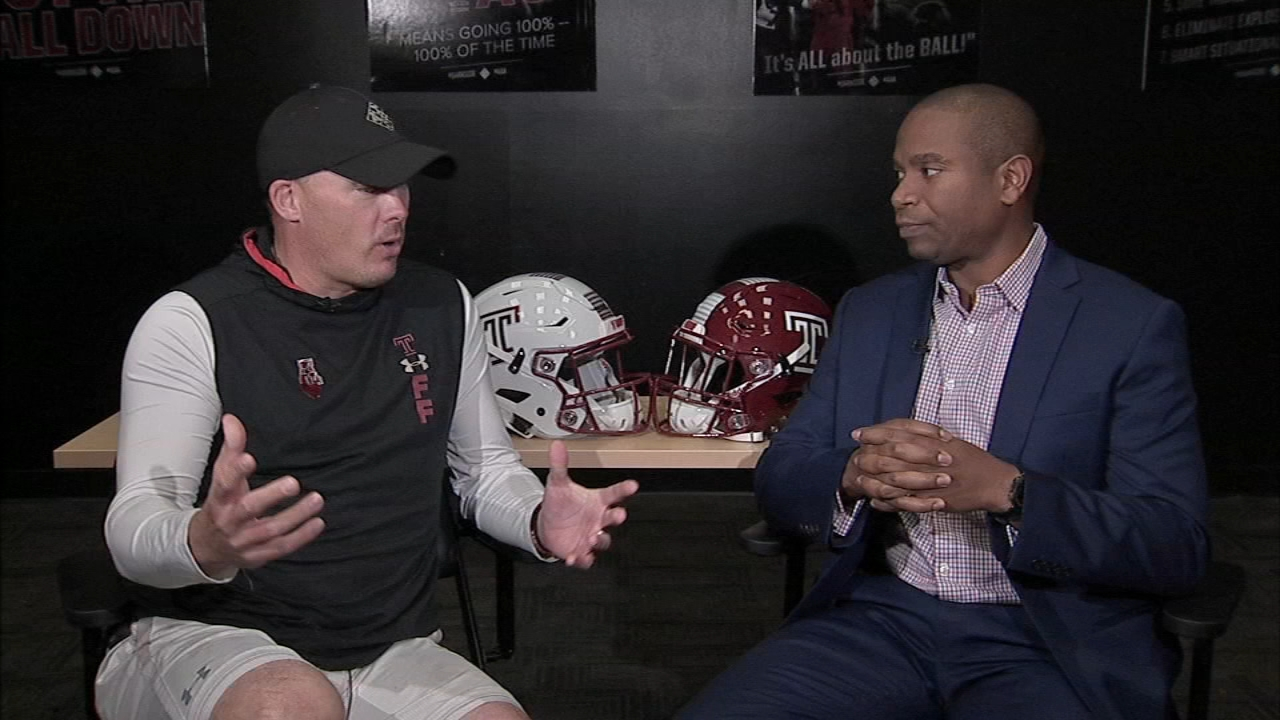 Ducis Rodgers sits down with Coach Collins on Temple Football Playbook during Action News at 9 a.m. on November 17, 2018.