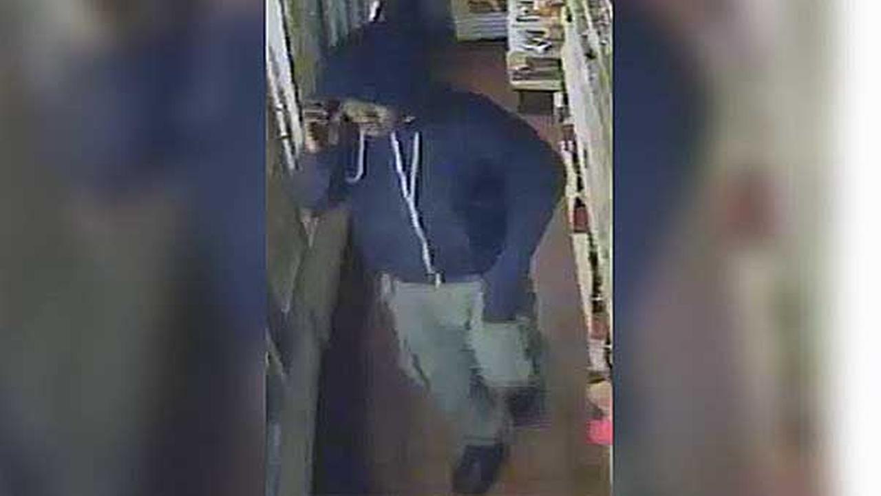 Police are searching for a burglar who stole thousands of dollars from a mini market in Southwest Philadelphia.