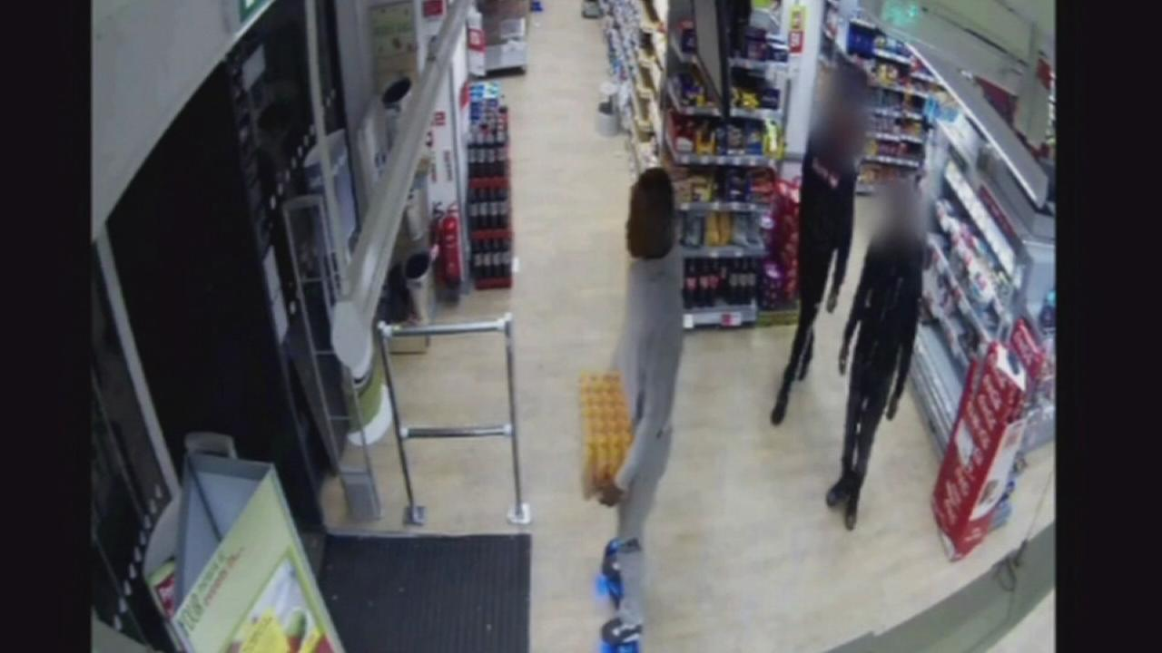 VIDEO: Shoplifter hits market while on a hoverboard