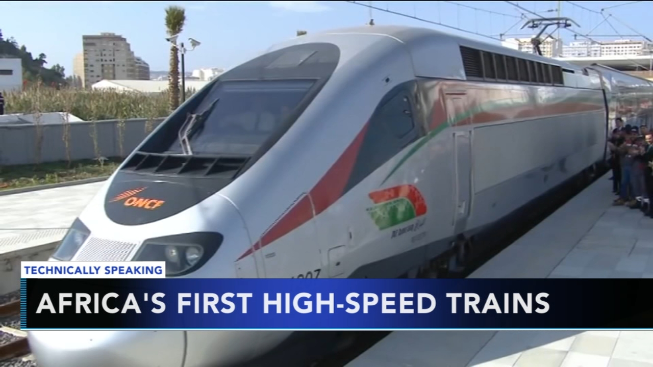 Emmanuel Macron inaugurates first high speed train in Africa. Nydia Han reports during Action News at 9 a.m. on November 18, 2018.