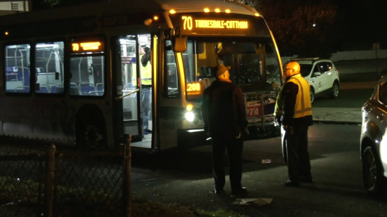 SEPTA bus strikes pedestrian: as seen on Action News at 10 p.m., November 18, 2018