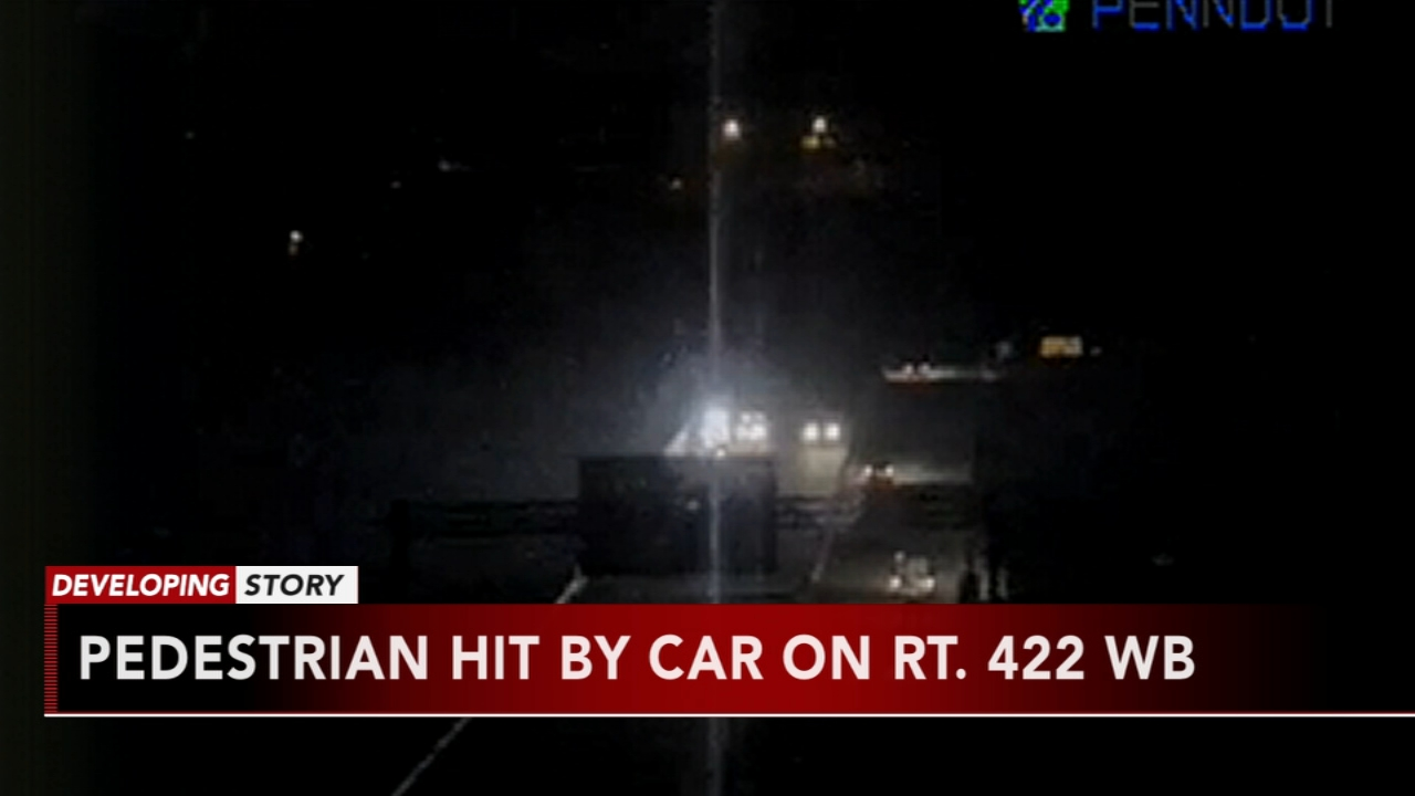 Pedestrian hit by car on Route 422 WB. Matt ODonnell reports during Action News Mornings on November 19, 2018.