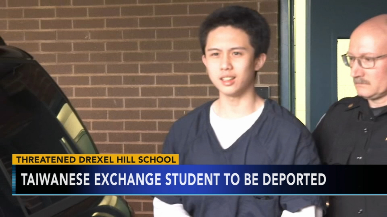 Exchange student accused of school threat to be deported. Watch the report from Action News at 4:30 p.m. on Nov. 19, 2018.