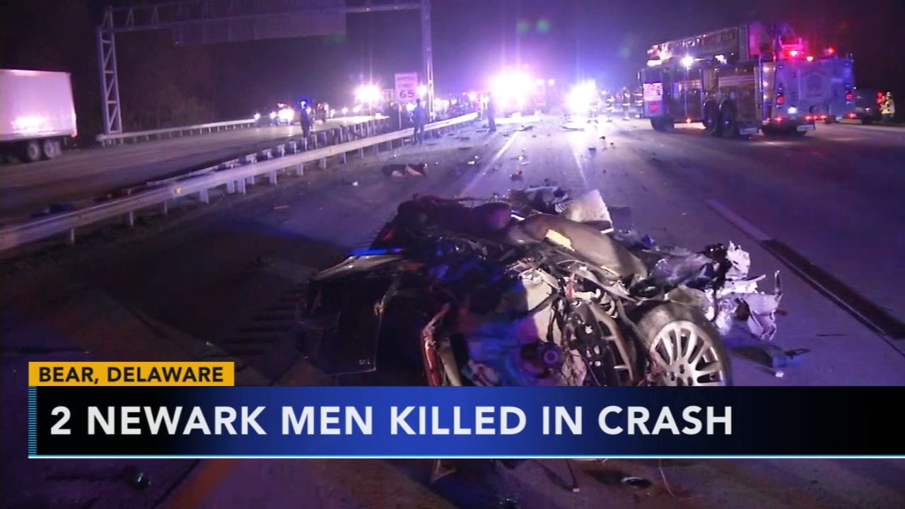 Police ID 2 men killed in crash that split car in half. Watch the report from Action News at 4:30 p.m. on Nov. 20, 2018.