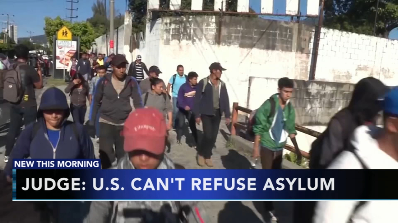 Judge: U.S. cant refuse asylum. Matt ODonnell reports during Action News Mornings on November 20, 2018.