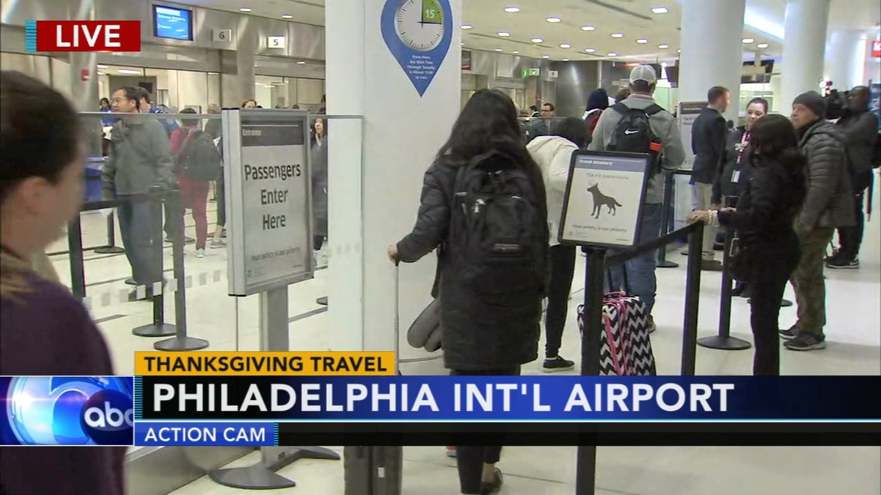 Philadelphia International Airport ready for the holiday travel crowd. Jeannette Reyes reports during Action News at 5 a.m. on November 21, 2018.