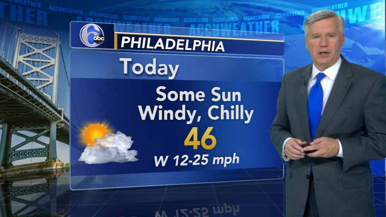 David Murphy with AccuWeather during Action News at 12pm on November 21, 2018.