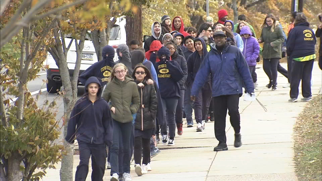Students at Decatur Elementary held a walk-a-thon to raise money to air condition the school as reported during Action News at 6 on November 21, 2018.