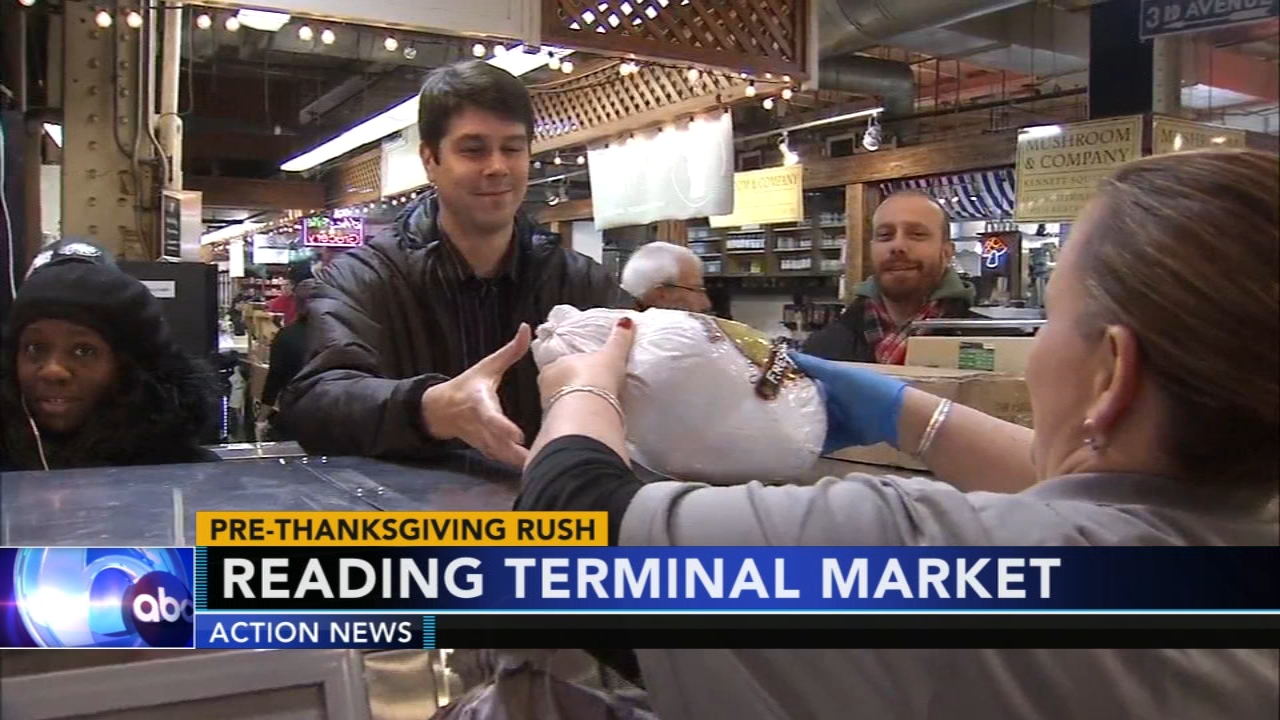 Action News found plenty of people out and about Wednesday buying everything they will need for an amazing and delicious Thanksgiving meal. Watch Sarah Bloomquists report on Actio
