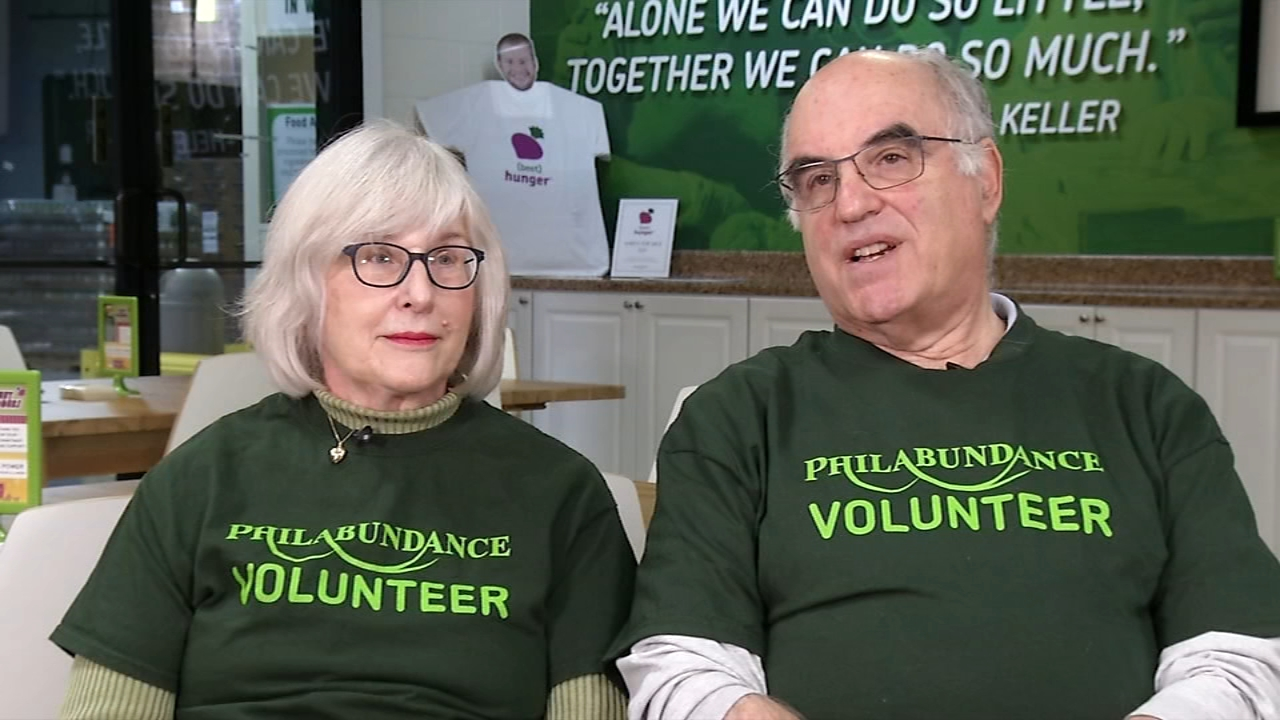 Couple volunteers to help neighbors in need all year long. Watch the report from Tamala Edwards on Action News at 12 p.m. on Nov. 22, 2018.