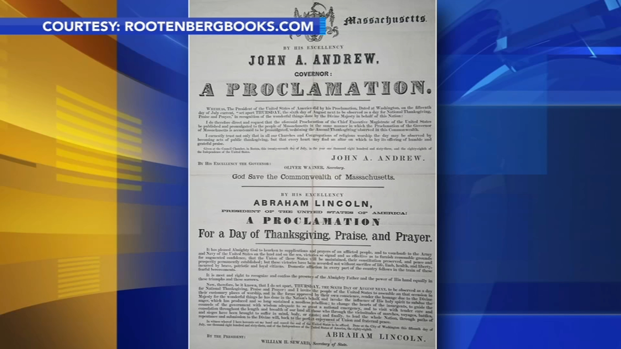 Lincoln wanted Thanksgiving to be a summer holiday: As seen on Action News at 4:30 p.m., November 22, 2018