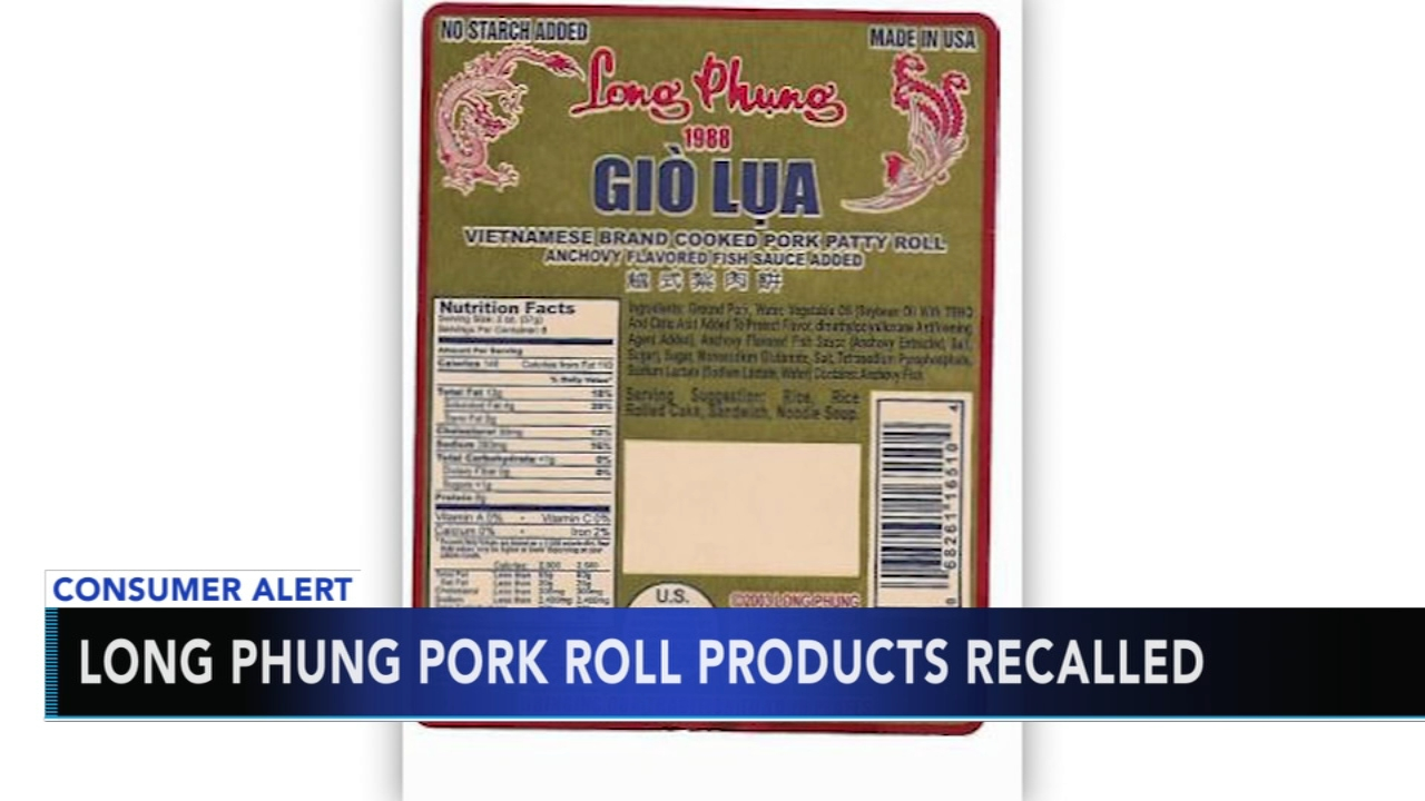 CDC recalls Long Phung pork roll for listeria concerns. Nydia Han reports during Action News at 9 a.m. on November 25, 2018.