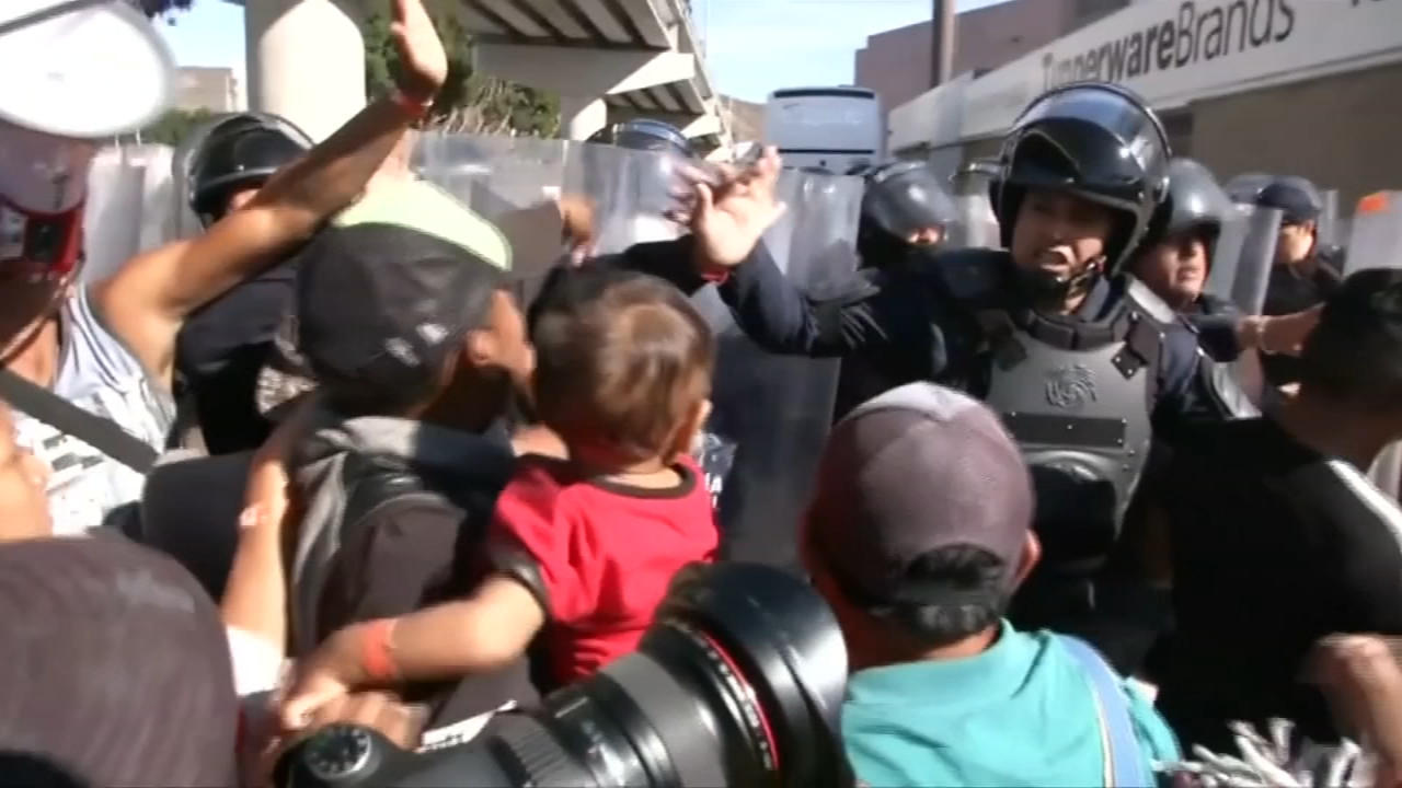 Mexico to up security at border after migrants try to cross. Lana Zak reports during Action News Mornings on November 26, 2018.