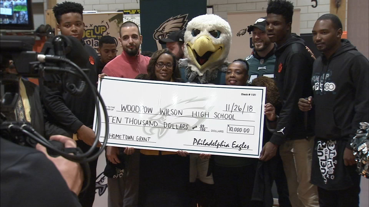 The school in Camden got a big surprise, in the form of a $10,000 check as reported during Action News at 4 on November 26, 2018..