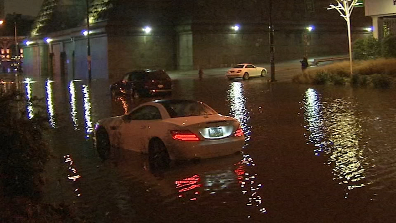 Flash flooding causes problems fior drivers as reported by Christie Ileto during Action News at 11 on November 26, 2108.