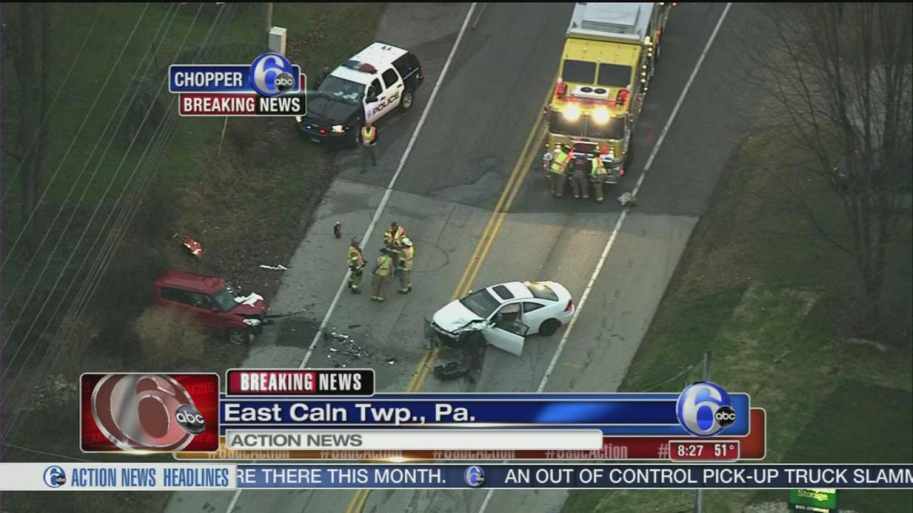 VIDEO: Head-on crash in Chester Co.