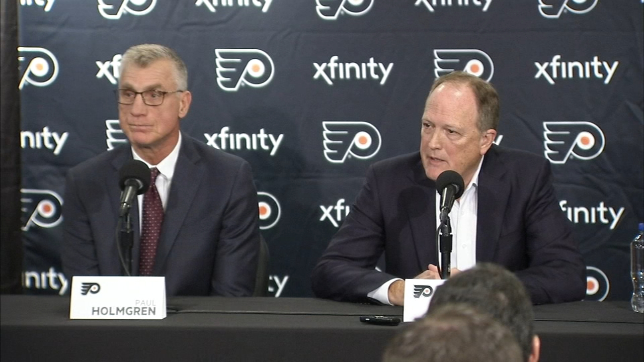 Flyers front office answer questions on Hextall. Jamie Apody reports during Action News at Noon on November 27, 2018.