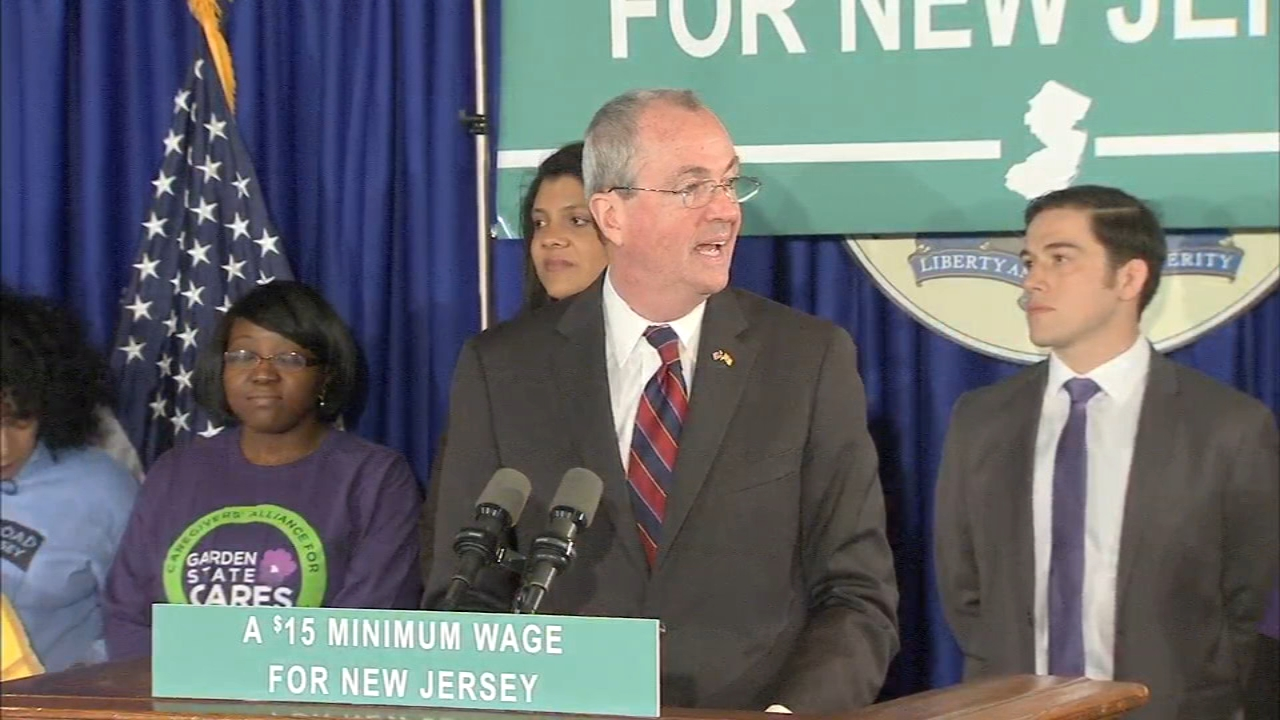 Murphy renews call for $15 minimum wage bill this year. Tamala Edwards reports during Action News Mornings on November 27, 2018.